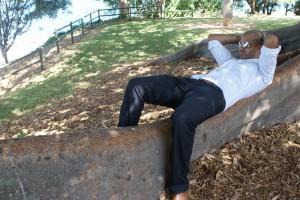 Amar relaxing on his career break. Copyright GapYearEscape.com