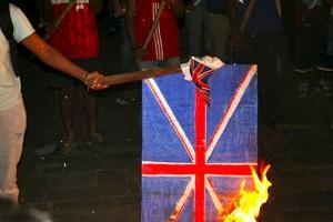 Burning of the Union Jack