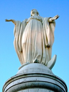 Virgin Mary on San Cristobal Mountain