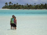 Simon and Erin in the Cook Islands. Copyright NeverEndingVoyage.com
