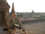 Catching the sunset in Bagan Myanmar. Copyright SeatofourPants.com