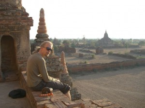 Catching the sunset in Bagan Myanmar. Copyright SeatofourPants.com