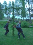 Dancing around the Midsummer Pole in Sweden. Copyright SeatofourPants.com