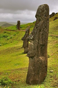 Moai on Easter Island