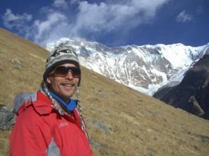 Martin above the Annapurna Base Camp in Nepal. Copyright SeatofourPants.com