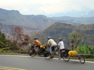 Navigating the High Altitude of the Andes in Colombia. Copyright FamilyOnBikes.org