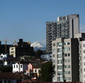 Cotapaxi Volcano from Quito. Copyright CareerBreakSecrets.com