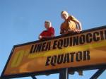 Crossing the Equator in Ecuador. Copyright FamilyOnBikes.org