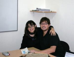 Profe Flo and I. Copyright CareerBreakSecrets.com
