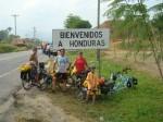 Entering Honduras. Copyright FamilyOnBikes.org