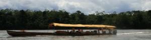Riverboats on Napo River, Ecuador. Copyright CareerBreakSecrets.com