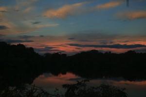 Sunset in the Amazon. Copyright CareerBreakSecrets.com