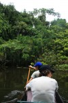 Taking the dugout canoe for a spin. Copyright CareerBreakSecrets.com