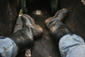 My rubber boots for getting around the Amazon. Copyright CareerBreakSecrets.com