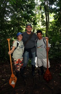 Me hanging out with our guides Danielle and Magno. Copyright CareerBreakSecrets.com