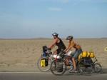 Biking Through the Peruvian Desert. Copyright FamilyOnBikes.Org