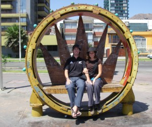 Craig and Linda in Antofagasta, Chile. Copyright IndieTravelPodcast.com
