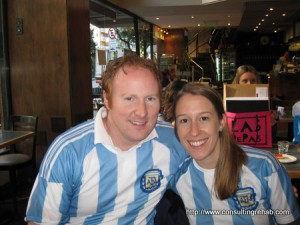 Ryan and Jen in Argentina. Copyright ConsultingRehab.com