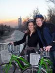 Ryan and Jen riding around Santiago, Chile. Copyright ConsultingRehab.com