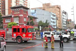 Bombing in Bogota at Caracol Radio