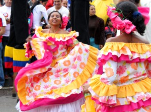 Traditional folkloric dancing from around Colombia was on display. Copyright CareerBreakSecrets.com