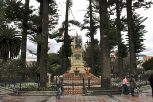 Park in central Cuenca. Copyright CareerBreakSecrets.com