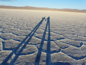 In the salt flats outside Salta, Argentina. Copyright ConsultingRehab.com
