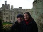 Craig and Linda at the Warwick Castle in England. Copyright IndieTravelPodcast.com