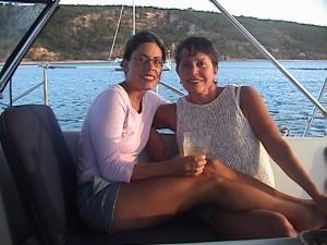 Elizabeth and Barbara in Anguilla. Copyright YourSabbatical.com