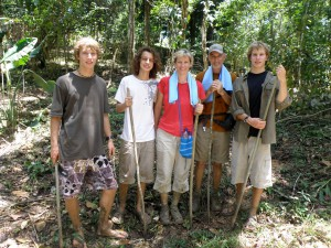The Cooneys, Morgan, Harrison, Catrell, Mike, and Zach, in Guatemala. Copyright ConneyWorldAdventure.com