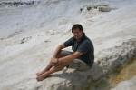 Jeff in Pamukkale Turkey. Copyright CareerBreakSecrets.com