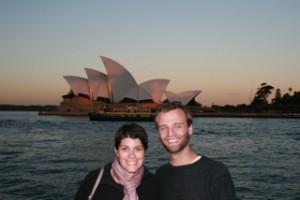Keith & Amy in Sydney. Copyright GreenAroundtheGlobe.com
