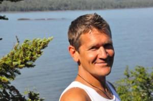 Kirk on Lake Superior. Copyright Kirk Horsted