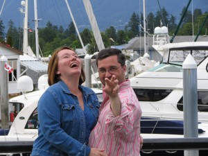 Warren and Betsey Talbot in Vancouver. Copyright MarriedWithLuggage.com