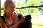 Dani & Spider Monkey in Belize. Copyright GlobetrotterGirls.com