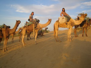 RIding camels in Egypt. Copyright Emma and Fabien Tronche