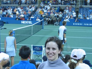 Kathryn at the US Open in New York. Copyright Kathryn Johnson.