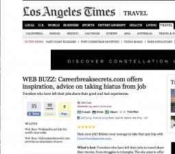 LA Times Travel Web Buzz Column